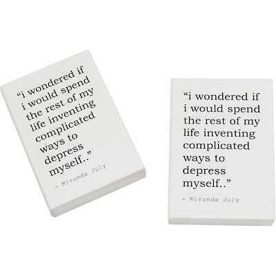 2 x 45mm Quote By Miranda July Erasers / Rubbers (ER00018294)