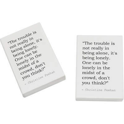 2 x 45mm Quote By Christine Feehan Erasers / Rubbers (ER00007232)