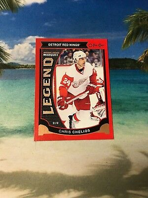 2015 Opc Red Chris Chelios Legend #584 Detroit Red Wings 2016 Ud O Pee Chee