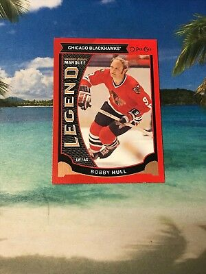 2015 Opc Red Bobby Hull Legend #554 Chicago Blackhawks 2016 Ud O Pee Chee