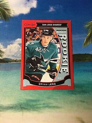 2015 Opc Red Rc Bryan Lerg #549 Sharks Rookie 2016 Ud O Pee Chee