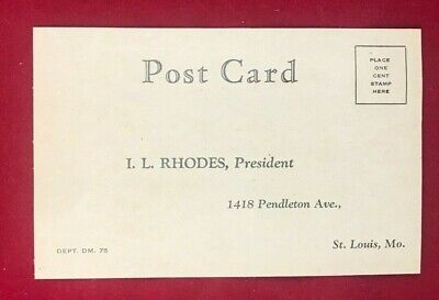 Post Card to I. L. Rhodes, Pres. Rhodes Mfg. for info on new shaving invention