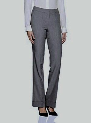 United Colors of BENETTON Women's Dark Gray Unlined Dress Pants Size UK 44