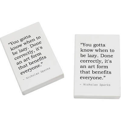 2 x 45mm Art Quote By Nicholas Sparks Erasers / Rubbers (ER00010857)