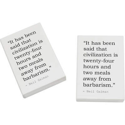 2 x 45mm Quote By Neil Gaiman Erasers / Rubbers (ER00017696)