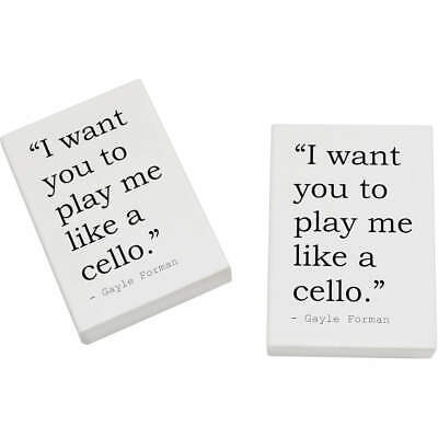 2 x 45mm Quote By Gayle Forman Erasers / Rubbers (ER00018964)