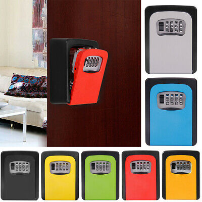High Security 4 Digit Key Safe Box Code Lock Storage Box Outdoor Wall Mounted