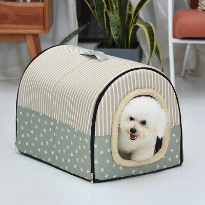 Dog Pet Cat Bed House Foldable Puppy Warm Kennel Cave Nest Pad Cushion Washable