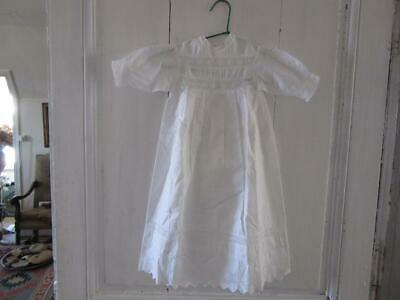 A Superb Antique French Baby Or Doll's Baptism Broderie Anglais Frock