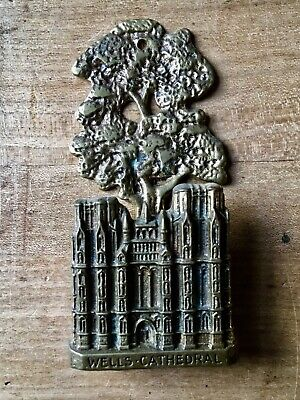 Vintage Brass Door Knocker Wells Cathedral Small