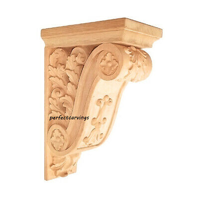 "2x CBL-SR04X07X10BGBH Vintage Look Through 10-1/4""H  Scrolled Leaf Carved Corbel"