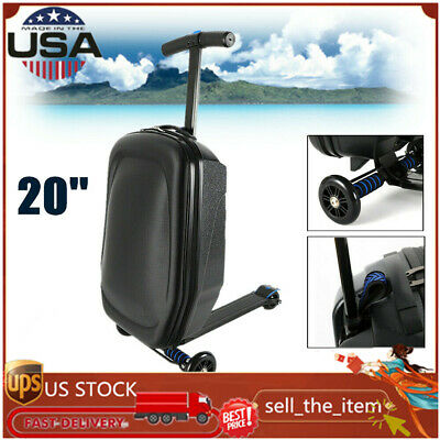 """Scooter Luggage Rolling Suitcase Foldable Trolley Travel Carry onboard Bag 20"""""""