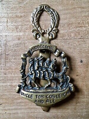 Brass Door Knocker Uncle Tom Cobleigh Widdecombe Hardware Salvage Vintage Small