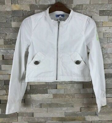 Kenzo Junior Girls 10 Years White Bomber Jacket Coat
