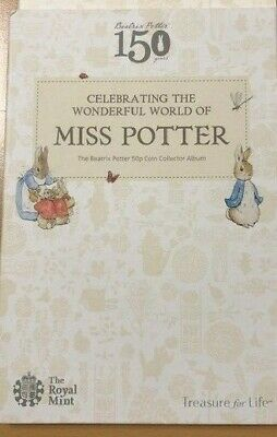 2016 2017 2018 Beatrix Potter 50p Coin Album folder collect pack, Ideal  Gift