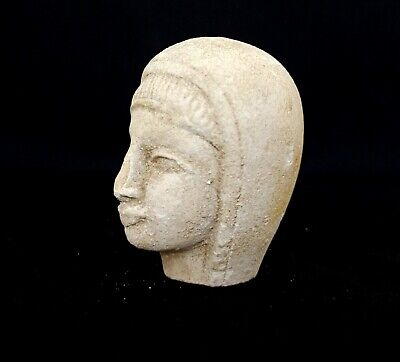 Hathor Amulet Egyptian Antique Bust Figurine Amulet Statue Goddess Sculpture