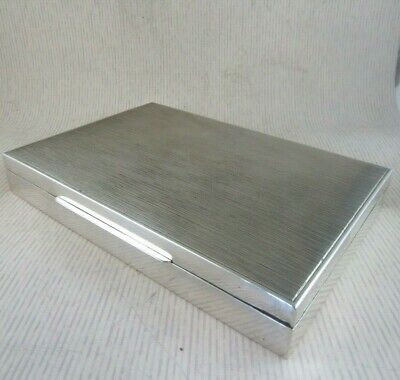 Solid Silver CIGAR BOX  Marked:- Sterling 925