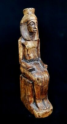 Rare Large Egyptian Antiquities Pharaoh Amenhotep III Stone Carved Sculpture