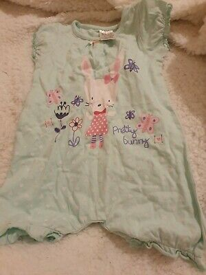 Lovely Girls Rabbit Playsuit Age 9-12 Months