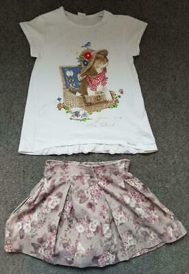 Lovely 2 Piece Outfit, Short Sleeve Top/Skirt From Mayoral, 5-6 Years  128Cm