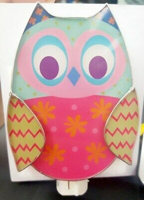 Owl Nightlight  Metal/Glass *New In Package* By Ganz 5.5 X 3 In