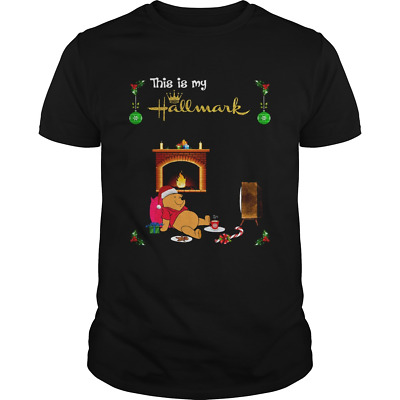Pooh This Is My Hallmark Movie Watching Men Shirt X-mas Gift Cotton