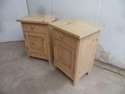 A Super Small Pair of Antique/Old Pine Victorian Bedside Cabinets to Wax/Paint