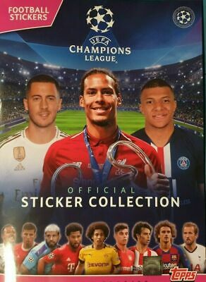 Uefa Champions League 2019/20 ~ Topps Sticker Collection Album + 50 Stickers