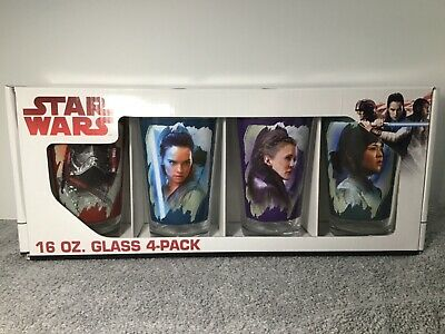 NEW Set of 4 Disney STAR WARS Collectible 16 oz. Drinking Glasses Pint Glass