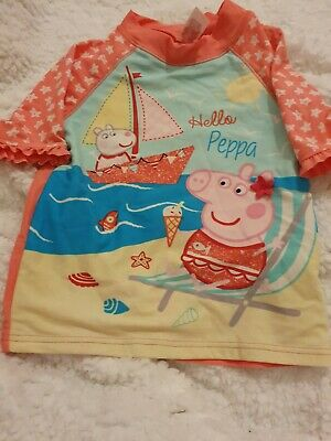 Lovely Girls Peppa Pig Swimming Top Age 2-3 Years