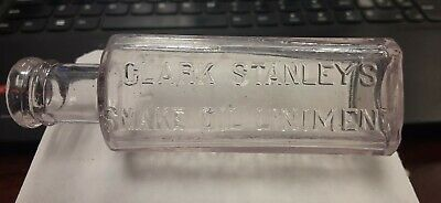 Nice 1890s Clark Stanley's Snake Oil Liniment Quack Cure Bottle