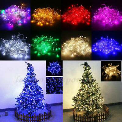 100ft 300LED Christmas Fairy String Lights Outdoor Indoor Xmas Party Lamps Decor