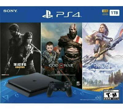 Sony Playstation 4 PS4 Slim 1TB Console 3 Game Bundle New SAME DAY PRIORITY SHIP