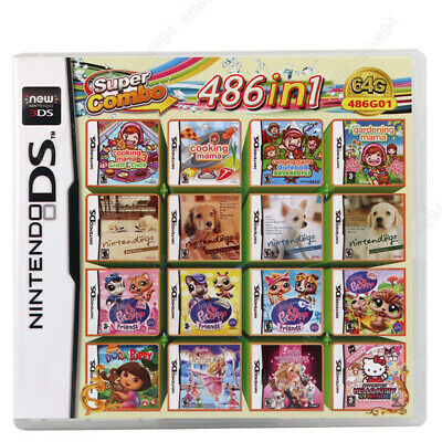 486 in 1 Nintendo DS NDS NDSL NDSi 3DS 2DS XL Video Game Multi Cartridge Card US