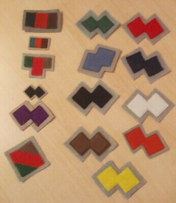 Australian Commando Colour Patches, WW11, some Repros and original 16 in all