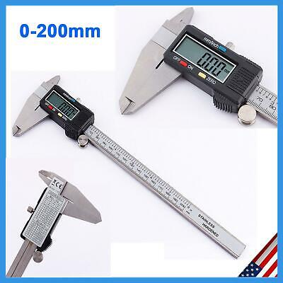 0-200mm LCD Digital Electronic Stainless Steel Vernier Caliper Gauge Micrometer