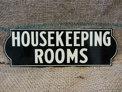 Vintage Metal HOUSEKEEPING ROOMS Sign > Antique Store Old Signs Business 7789
