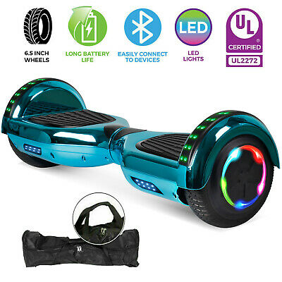 "6.5"" Hoverboard Bluetooth Chrome Electric Self Balance Scooter +Bag - Light Blue"