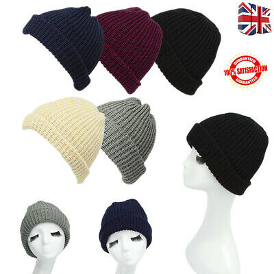 ASAB 4 LED Head Lamp Black Knit Beanie Hat Hands Free Light Winter Warm Woolly C