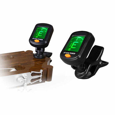 Electric Guitar Tuner LCD Clip-on Chromatic Acoustic Bass Ukulele Violin ZB1Z