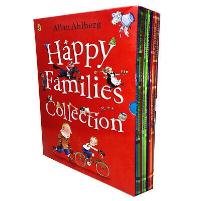 Happy Families Collection 10 Books Box Set By Allan Ahlberg Children Pack