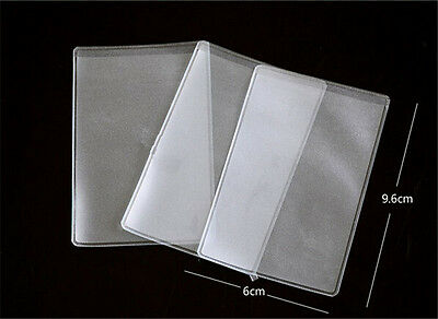 20X Clear Plastic Credit Debit ID Card Holder Sleeve Soft Case Cover Protect KY