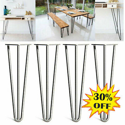 COFFEE TABLE LEGS STOOL DESK CHEAPEST SET OF 4 INDUSTRIAL HAIRPIN DINING