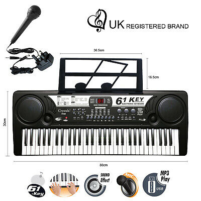 Piano 61 Key Digital Electronic Keyboards MP3 Music Piano Instruments Mic Gift