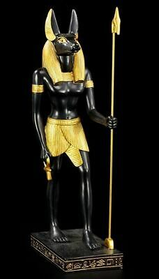 Anubis Standing Hand Painted Black And Gold Statue 21cm V. IMPRESSIVE.