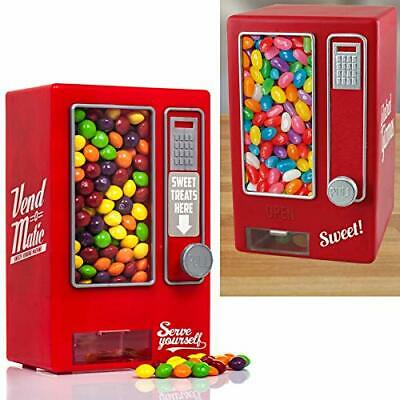 Candy Vending Machine Retro Sweets Dispenser Gumball Kids Gift Red Jelly Beans