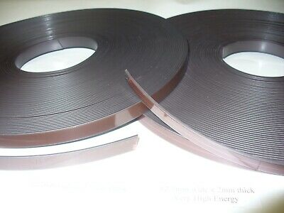 Self Adhesive Magnetic Tape.Strip 12.7mm wide x 2mm thick Super High Energy
