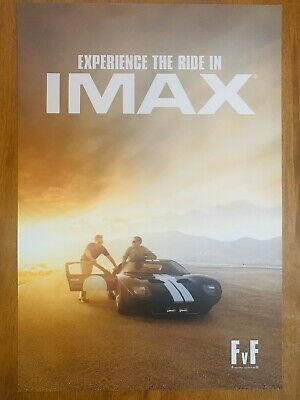 Ford vs Ferrari Movie 13x19 Limited Edition IMAX Poster PROMO Ford Gt Free Ship
