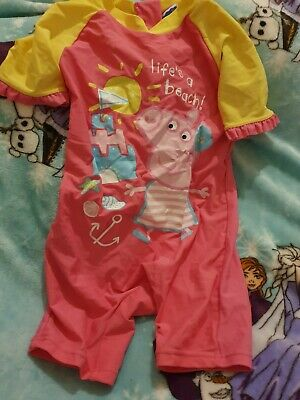 Lovely Girls Peppa Pig Swimming Suit Age 3-4 Years