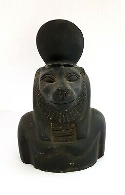 Rare Sekhmet Egyptian Goddess Statue Ancient Figurine basalt Egypt Sculpture art